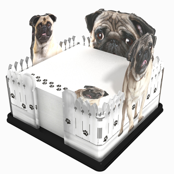 Pug acrylic Note holder
