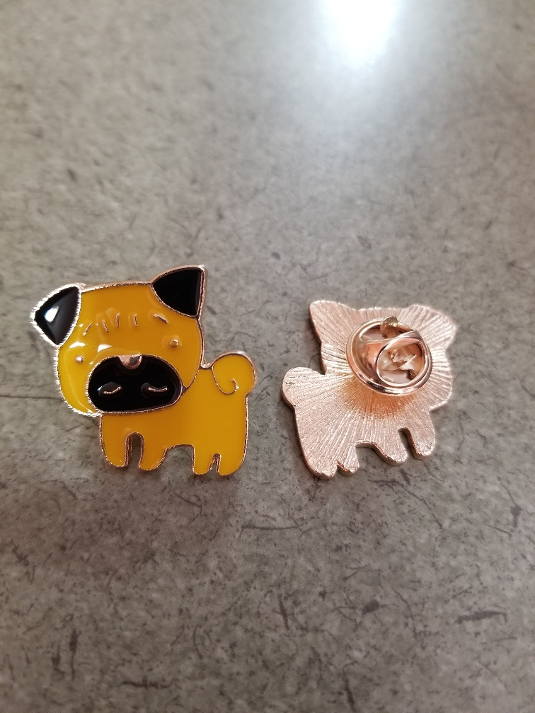 pug pin (brooch) - Click Image to Close